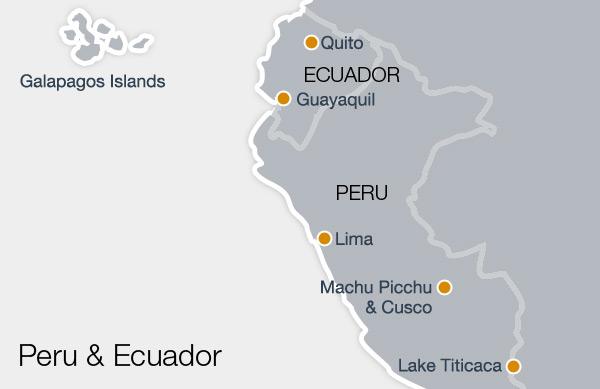 Ecuador & Peru Map